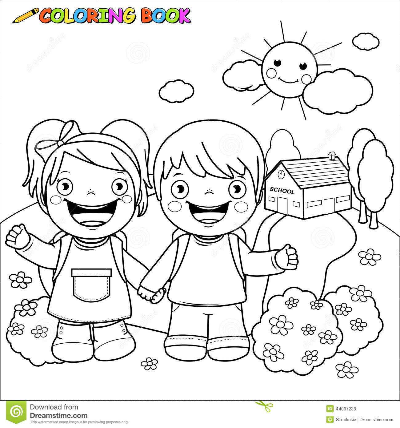 kid learning clipart