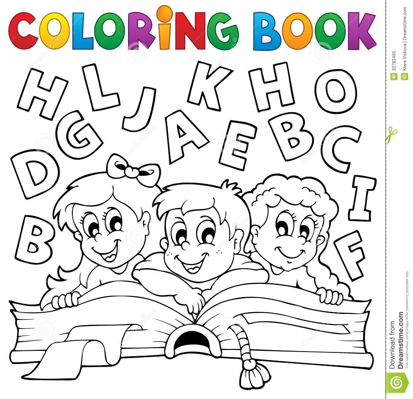 coloring book kids theme 5 royalty free stock photo image 32783465
