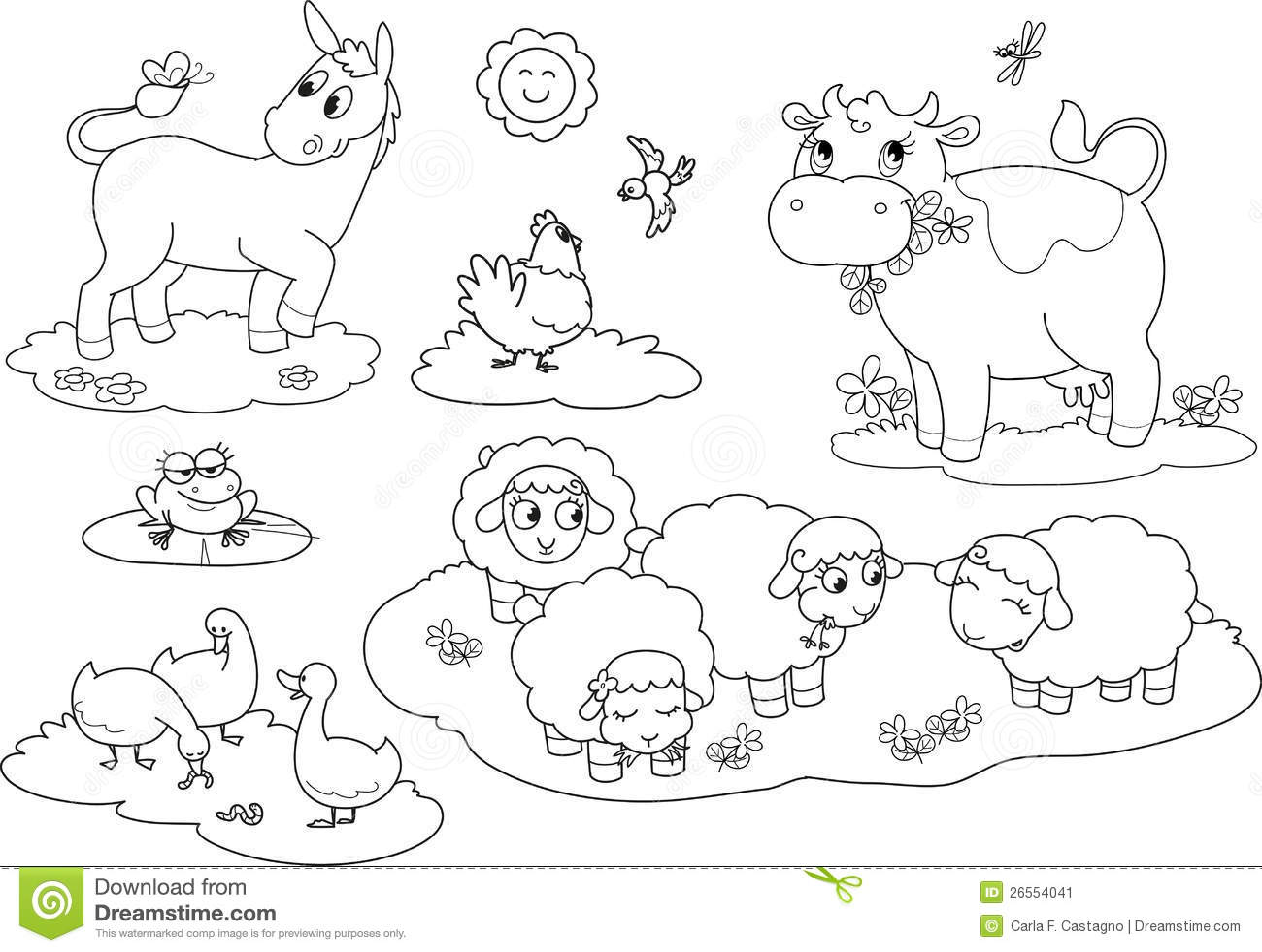 Coloring Farm Animals 2 Stock Image
