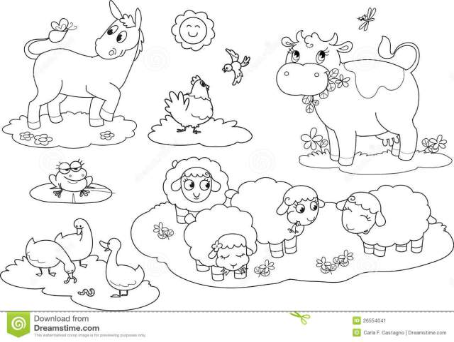 Farm Animals Coloring Stock Illustrations – 15,155 Farm Animals