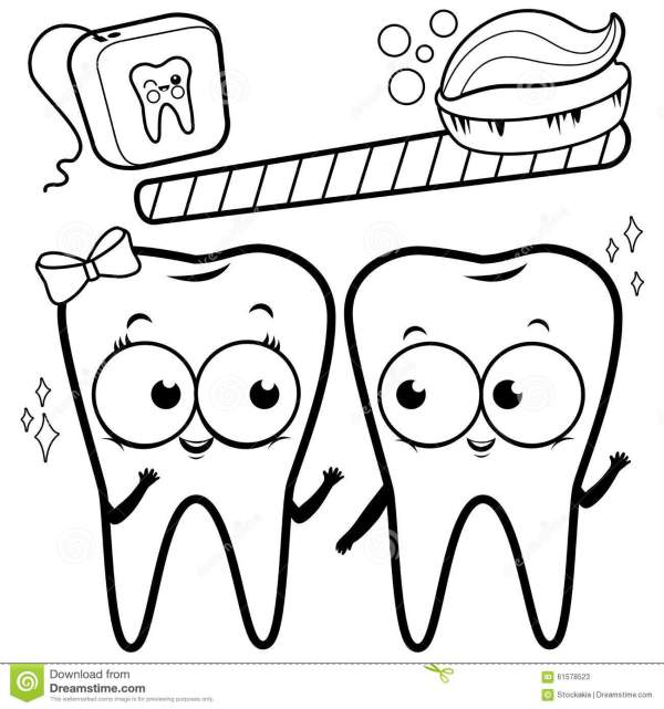 teeth coloring page # 8