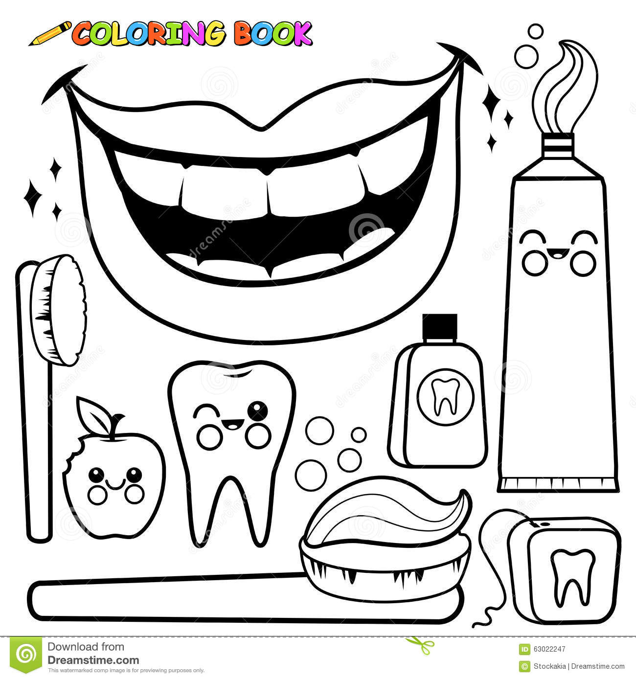 Color Teeth Worksheet
