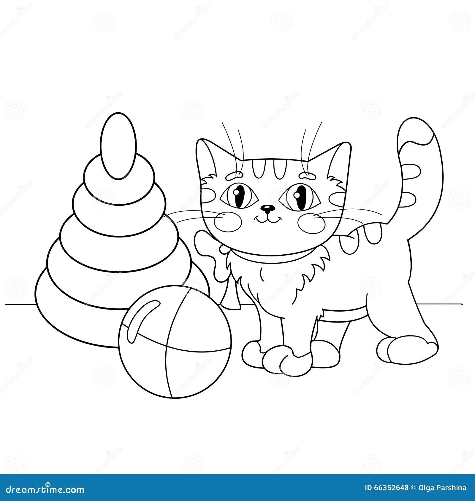 Cartoon Cat Playing