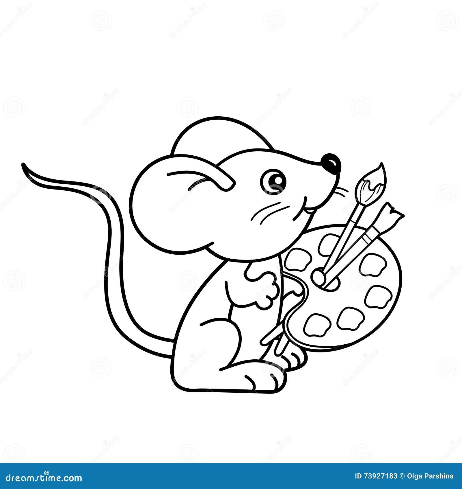 Mouse Paint Coloring Pages