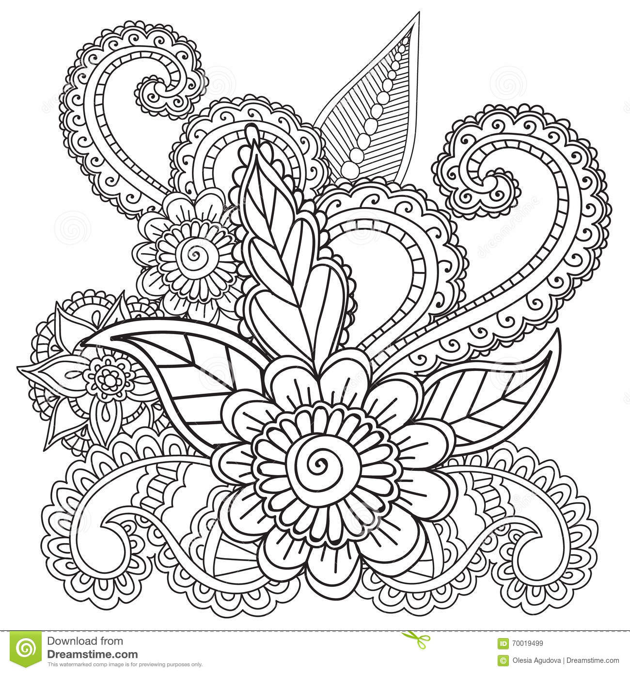mehndi designs coloring book pages - photo#19