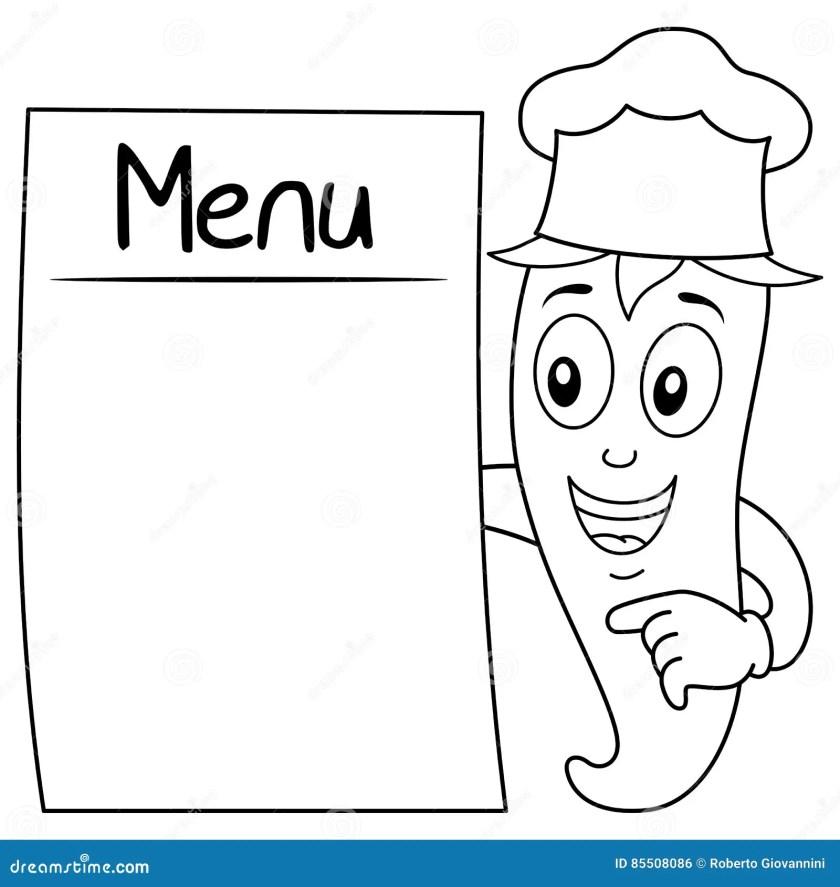 restaurant menu pages coloring pages