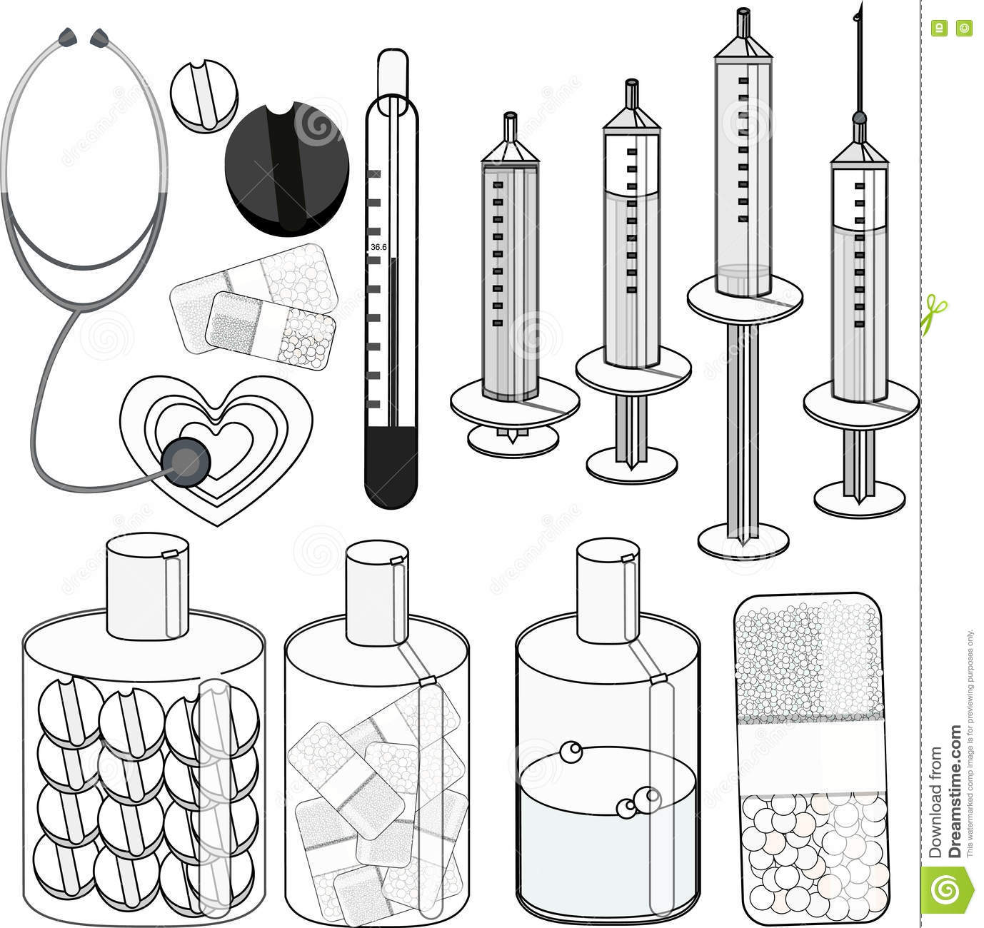Pharmacy Coloring Pages Sketch Coloring Page