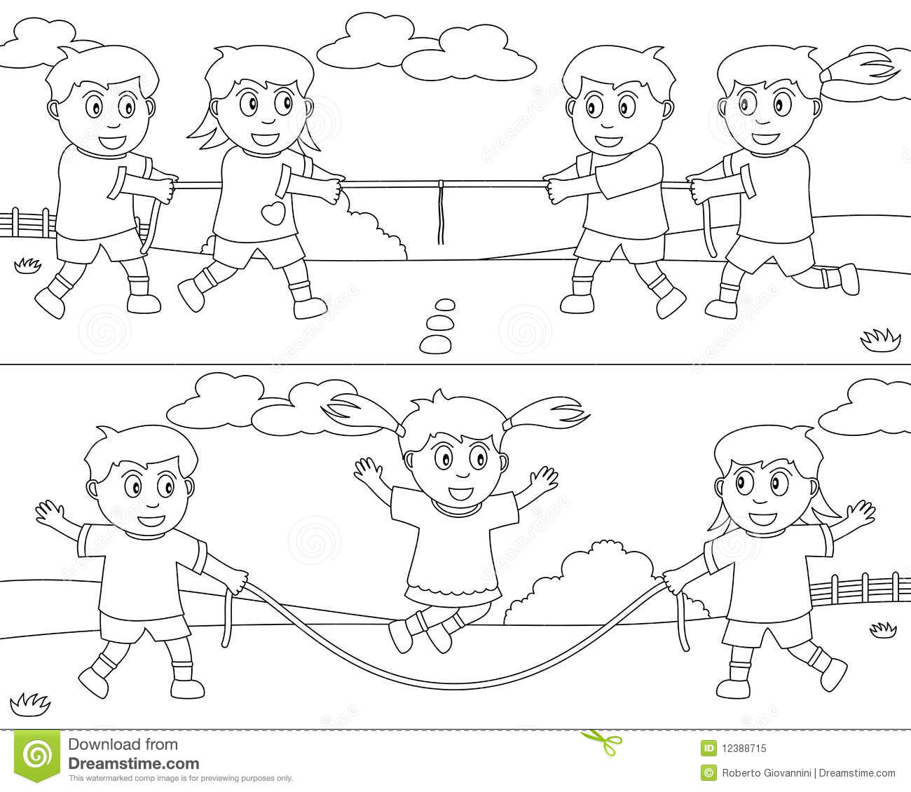 Coloring Sport For Kids 7 Stock Vector