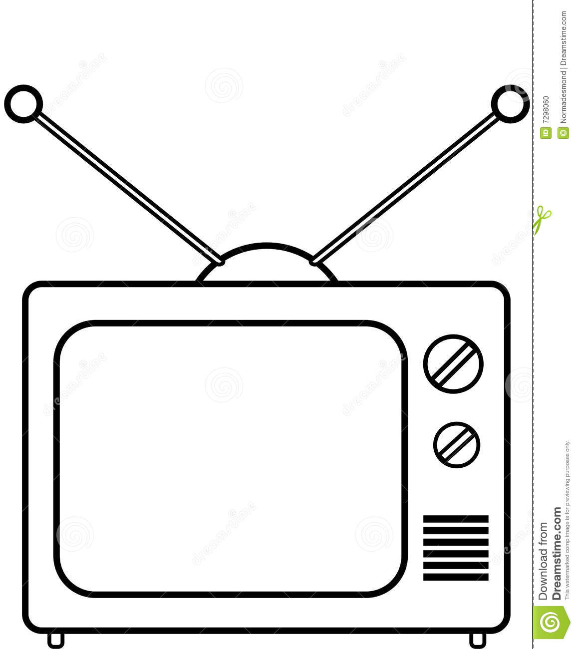 Coloring Tv Stock Illustration Illustration Of Home Tech