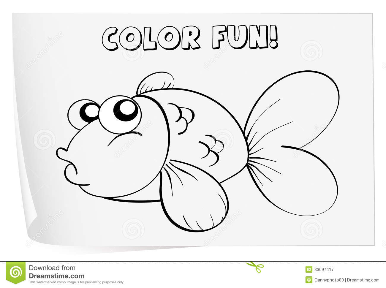 Coloring Worksheet Stock Vector Illustration Of
