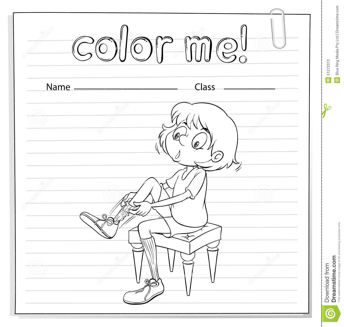 Coloring Worksheet Girl Stock Illustrations 316 Coloring
