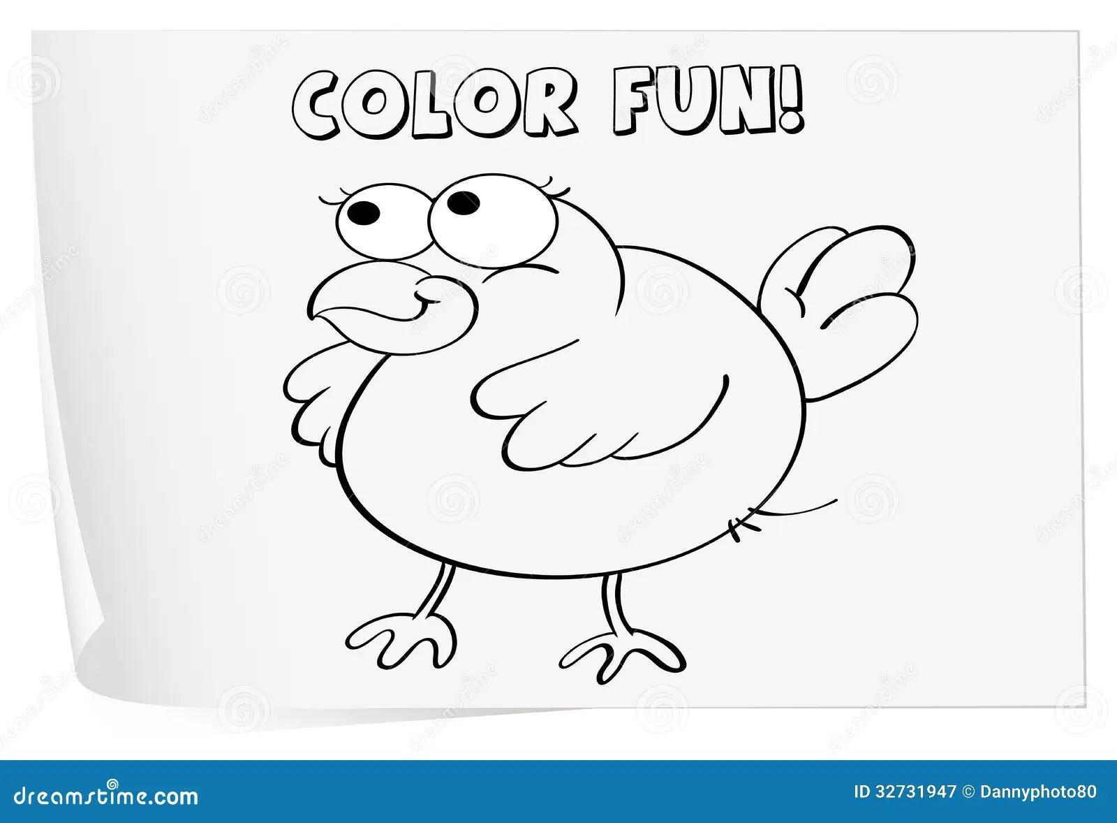 Coloring Worksheet Stock Vector Illustration Of Childs