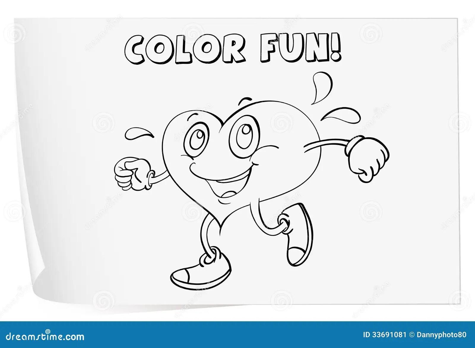 Coloring Worksheet Stock Image