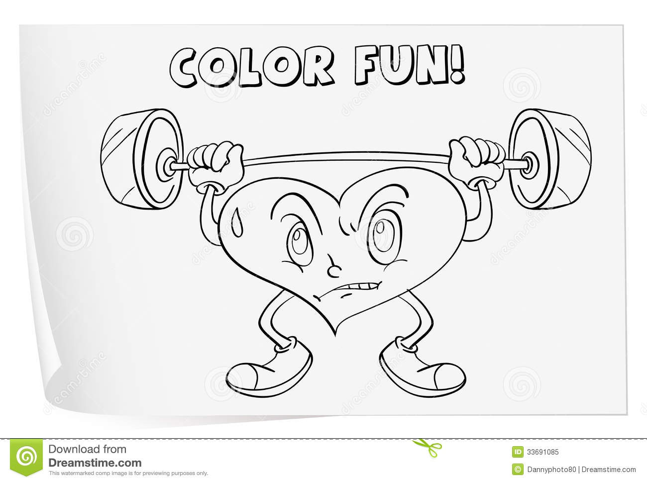 Coloring Worksheet Royalty Free Stock Photo