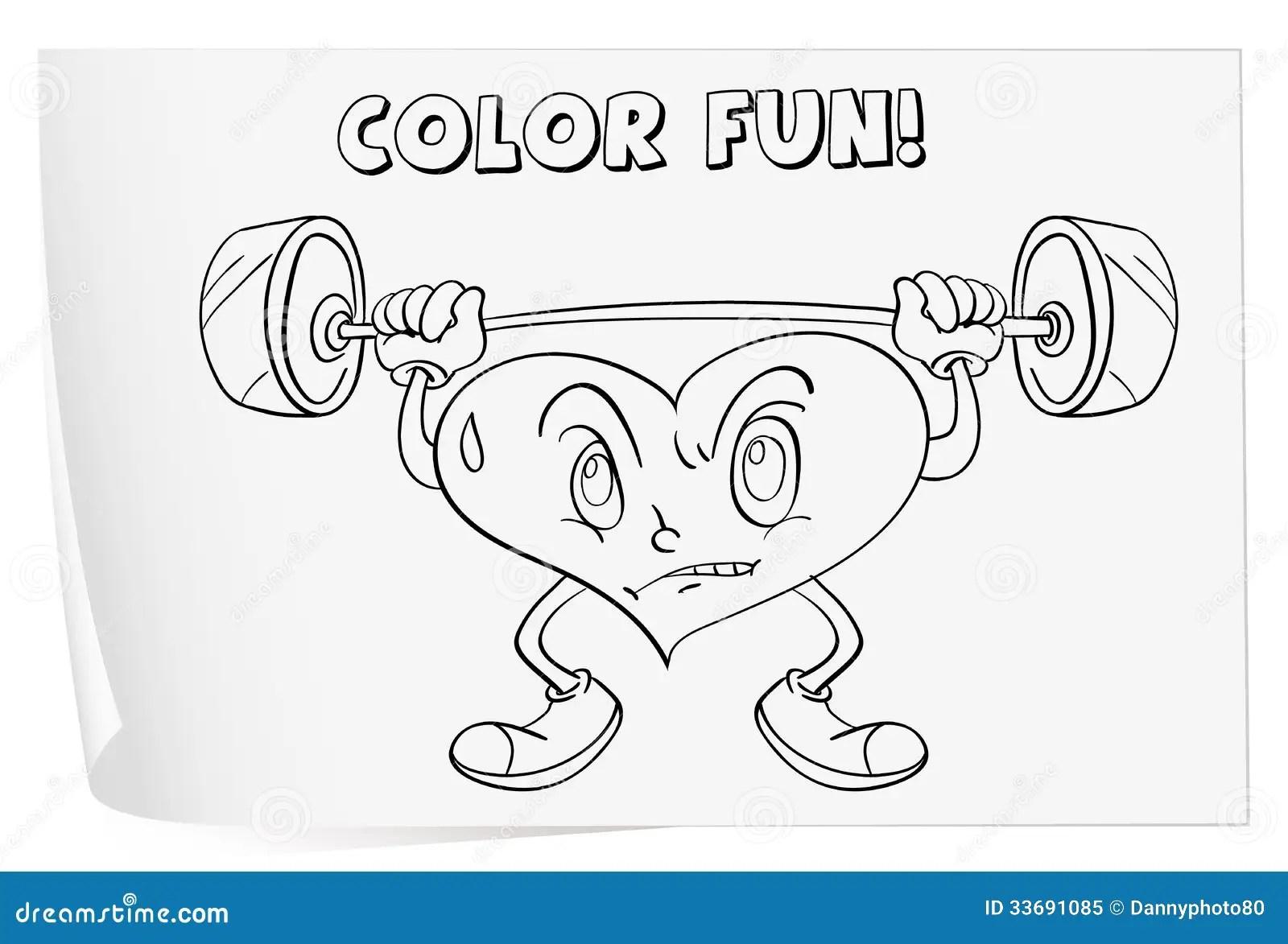 Coloring Worksheet Stock Illustration Illustration Of