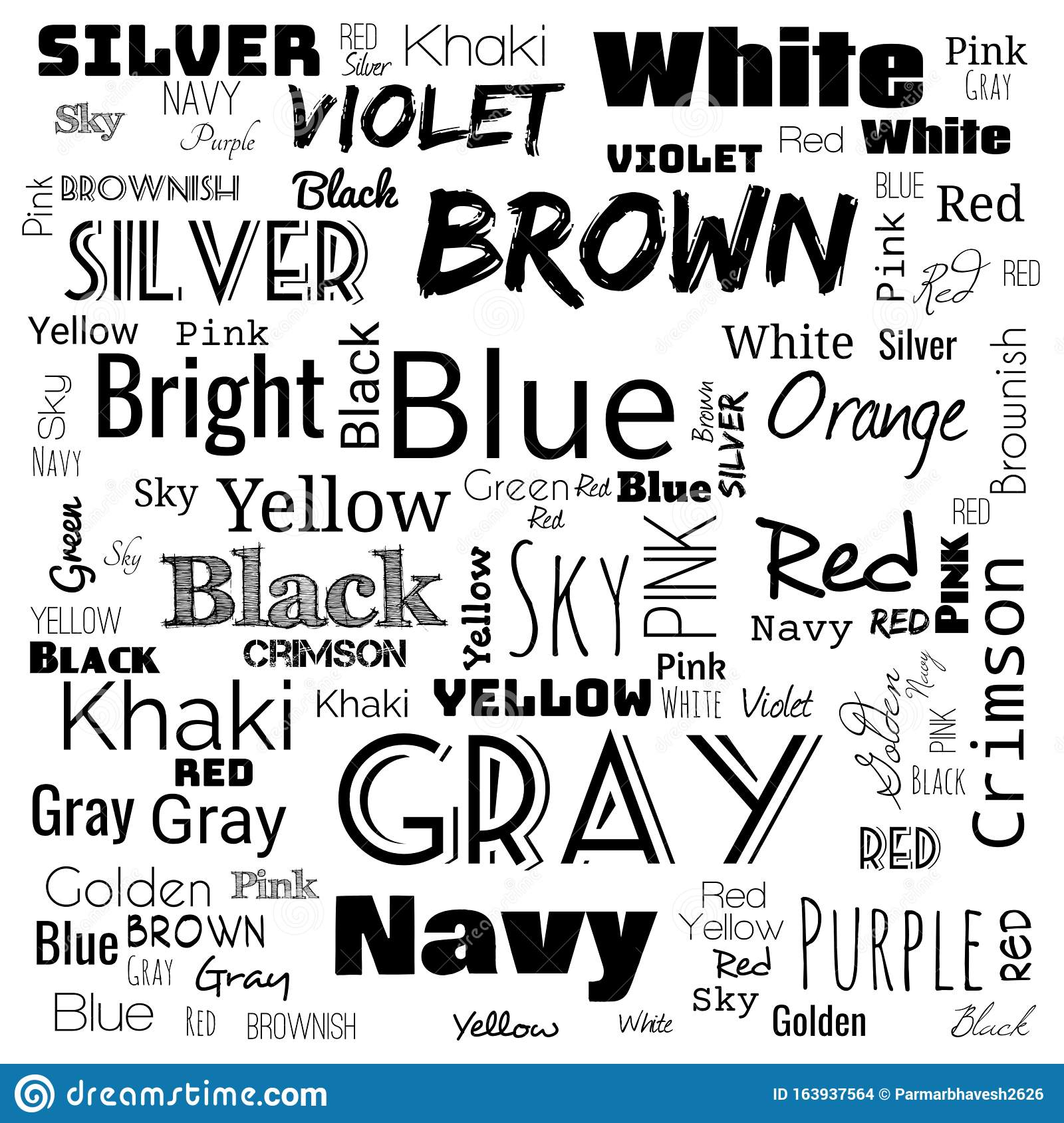 Colors Word Cloud Word Cloud Use For Banner Painting