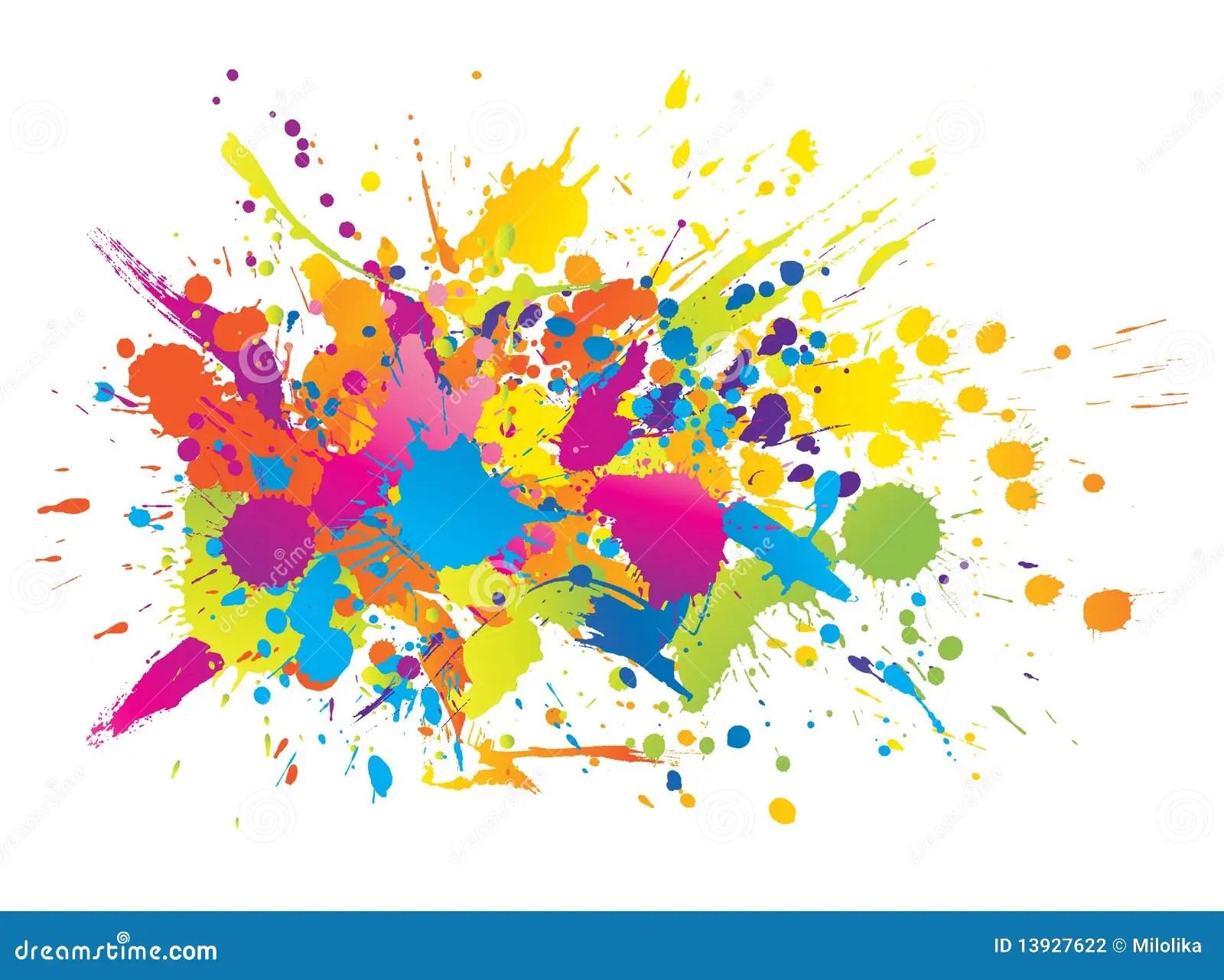 Colourful Bright Ink Splashes Stock Photography Image 13927622