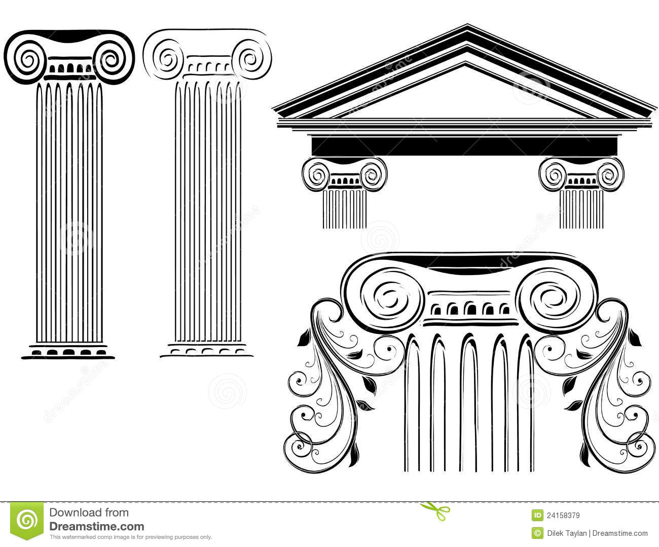 Column Designs Stock Vector Illustration Of Building