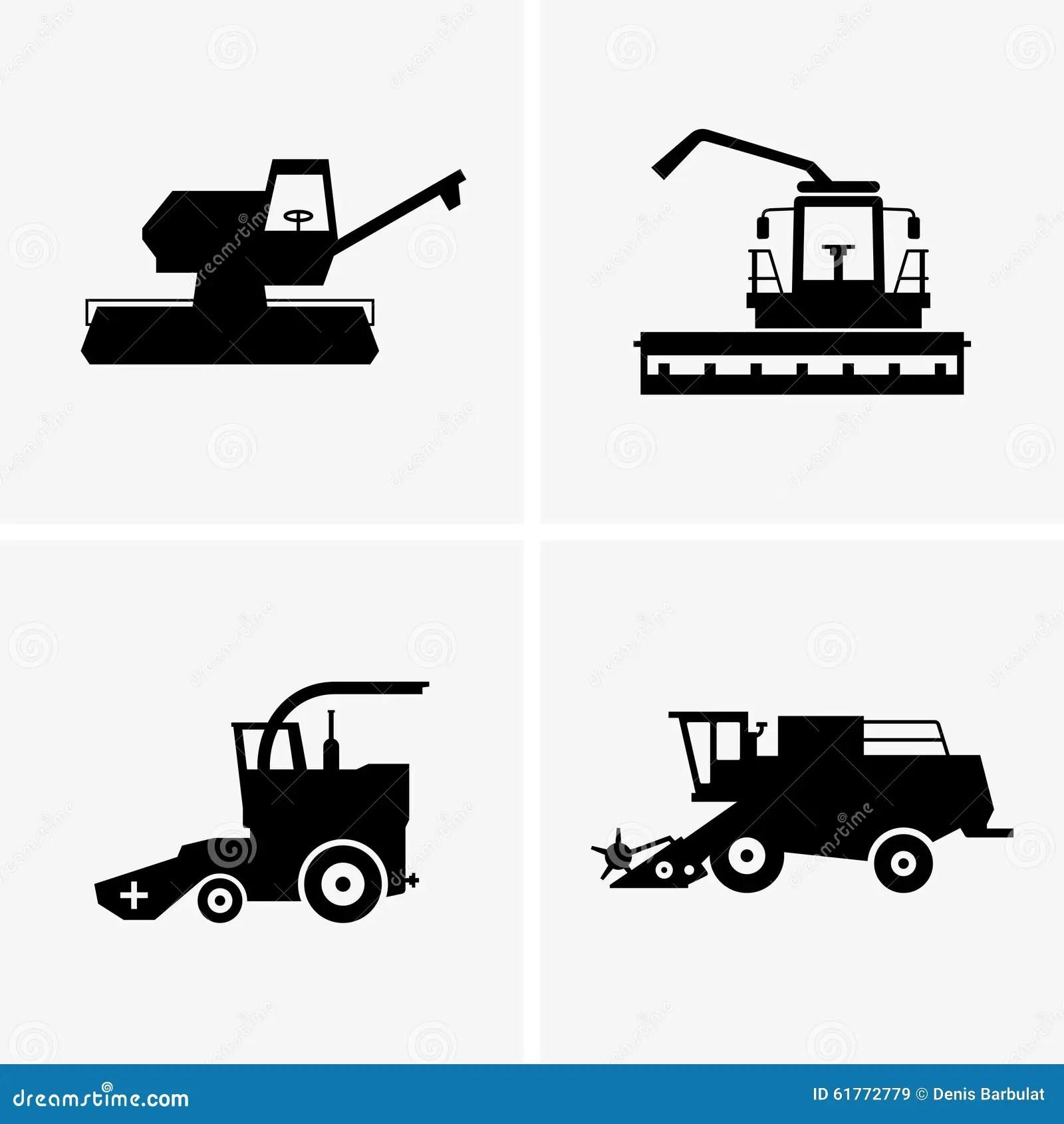 john deere green tractor � combine harvesters stock vector