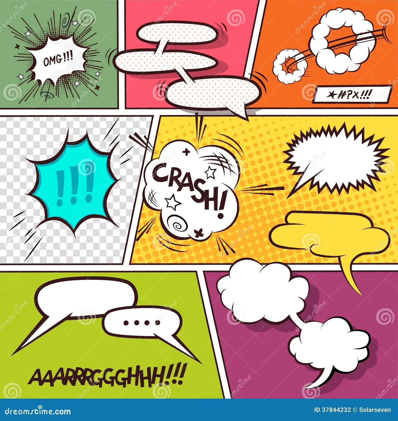 Comic Speech Bubbles Stock Photography