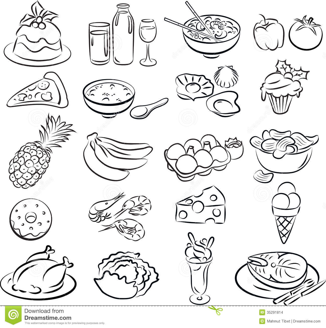 Comidas Ilustracion Del Vector Ilustracion De Haba Sano