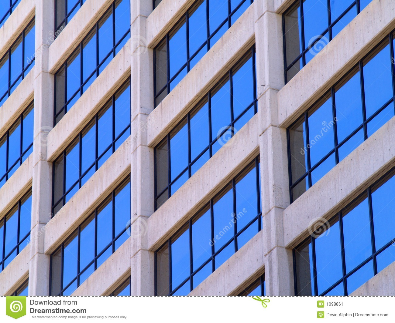 Commercial Building Windows Stock Image Image 1098861