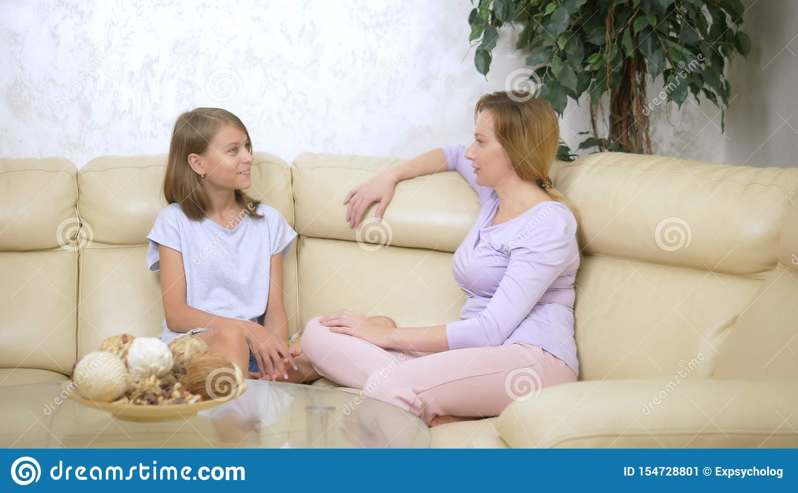 Communication Concept Mom And Daughter Mother And