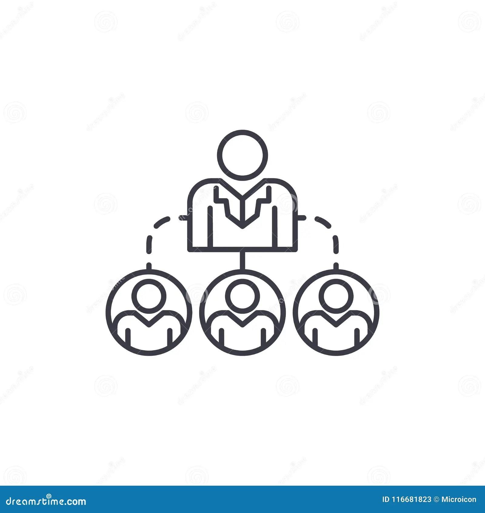 Company Structure Linear Icon Concept Company Structure