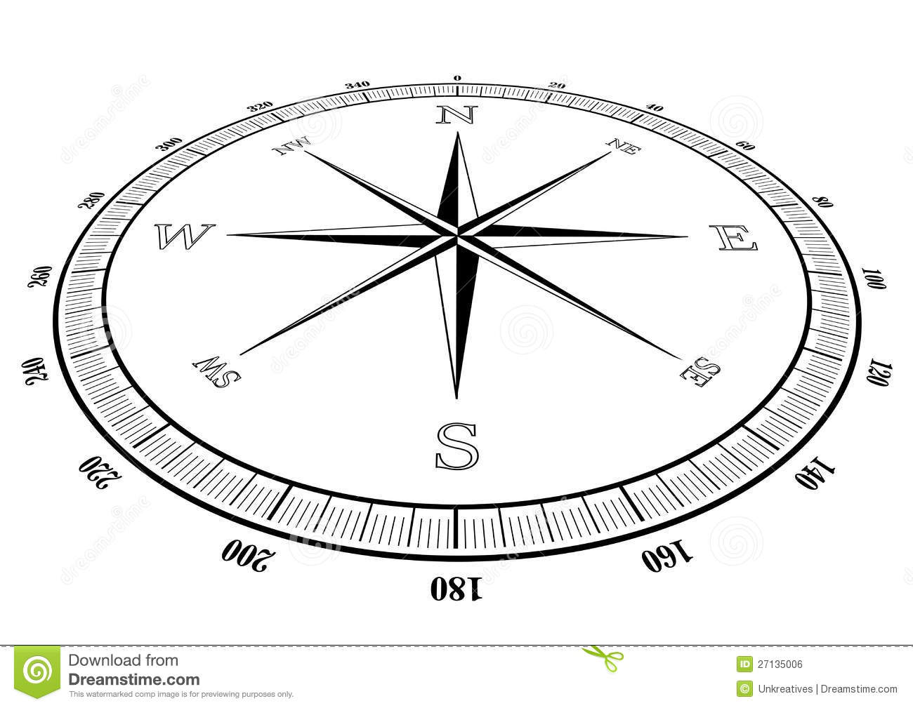 Compass Rose Stock Illustration Illustration Of Discovery