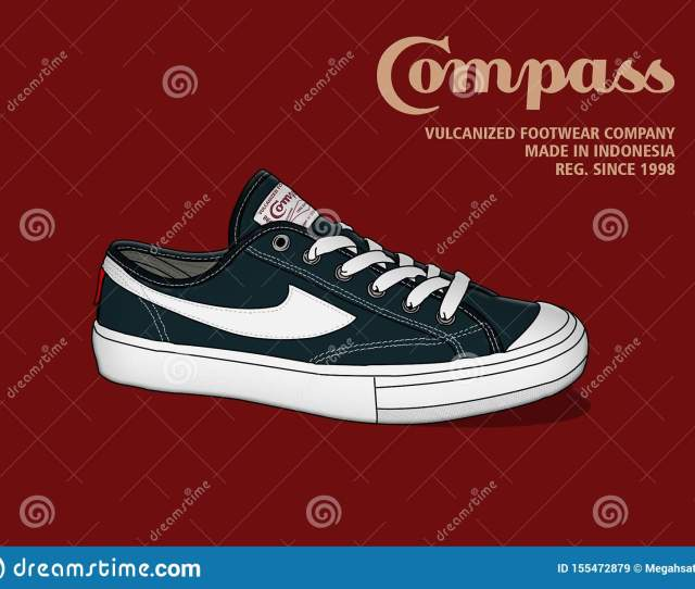 Compass Shoes Brand From Indonesia Editorial Stock Image