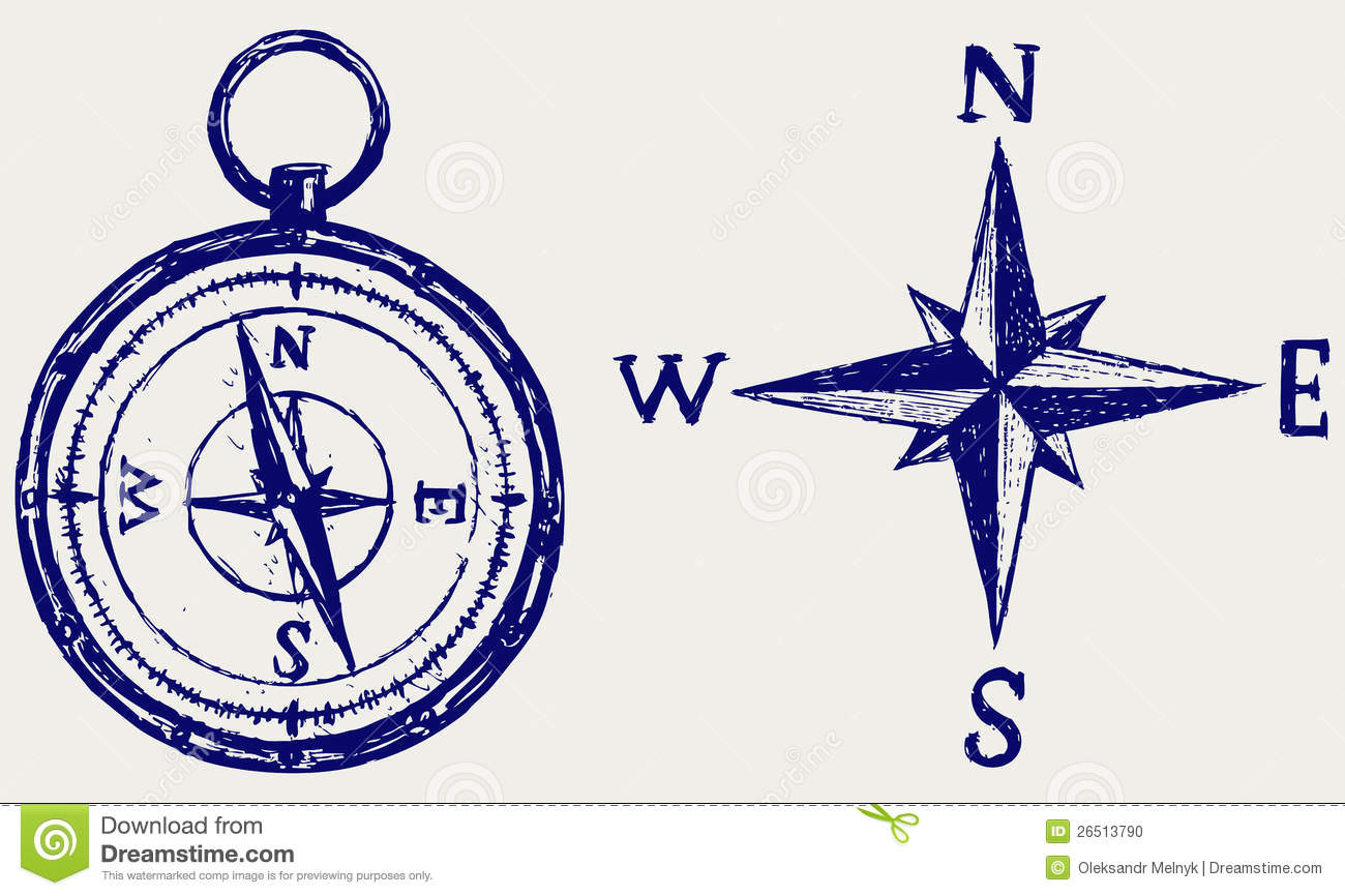 Compass Sketch Stock Photo Image 26513790