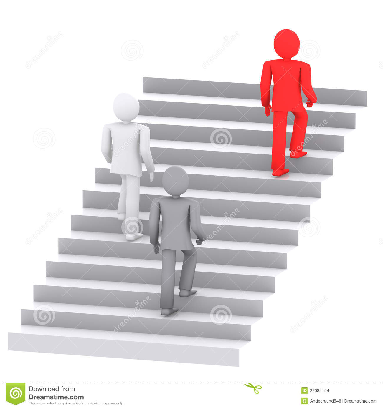 Competition Success Ladder Stock Illustration