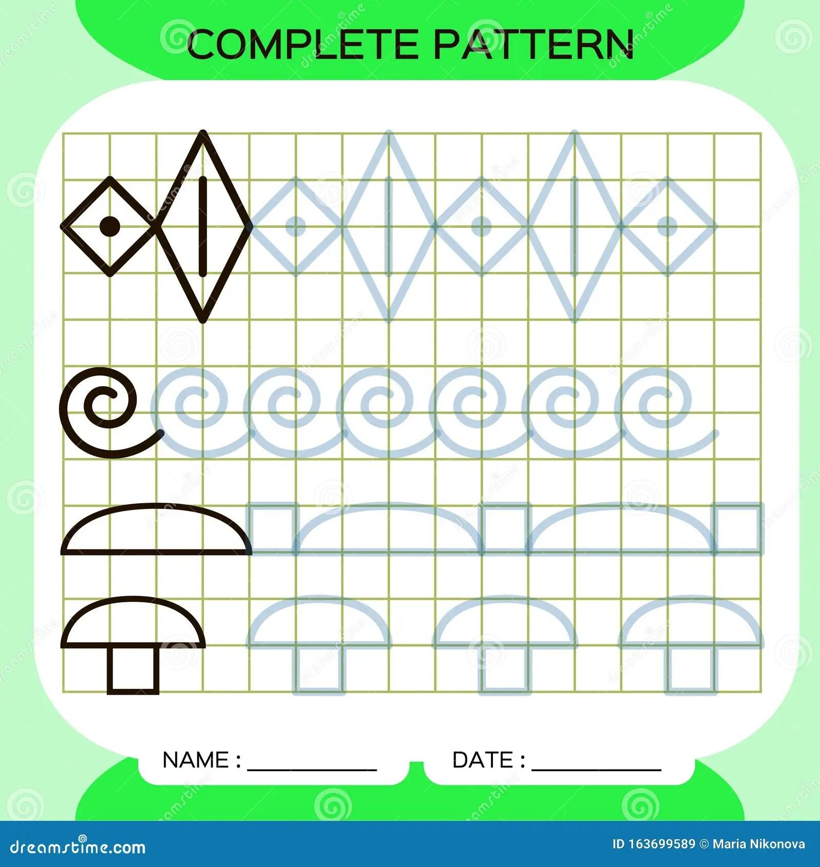 Lines Tracing Pattern Worksheets For Kindergarten