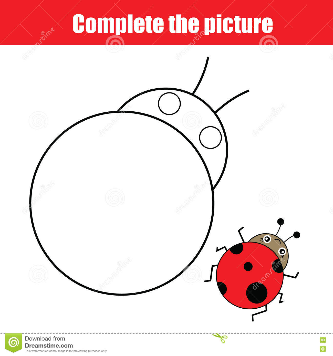Complete The Picture Children Educational Drawing Game