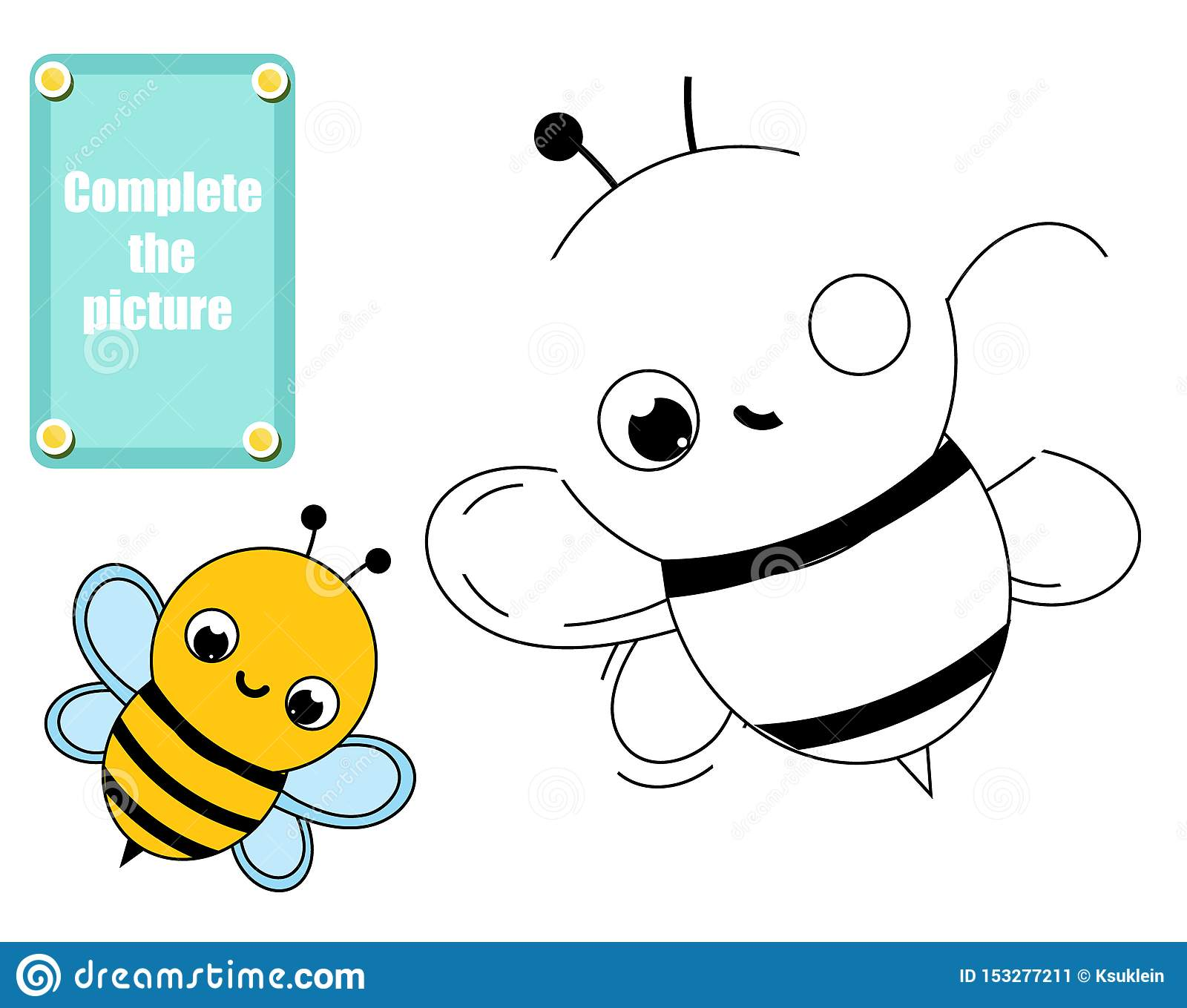Complete Picture Educational Children Game Kids Drawing