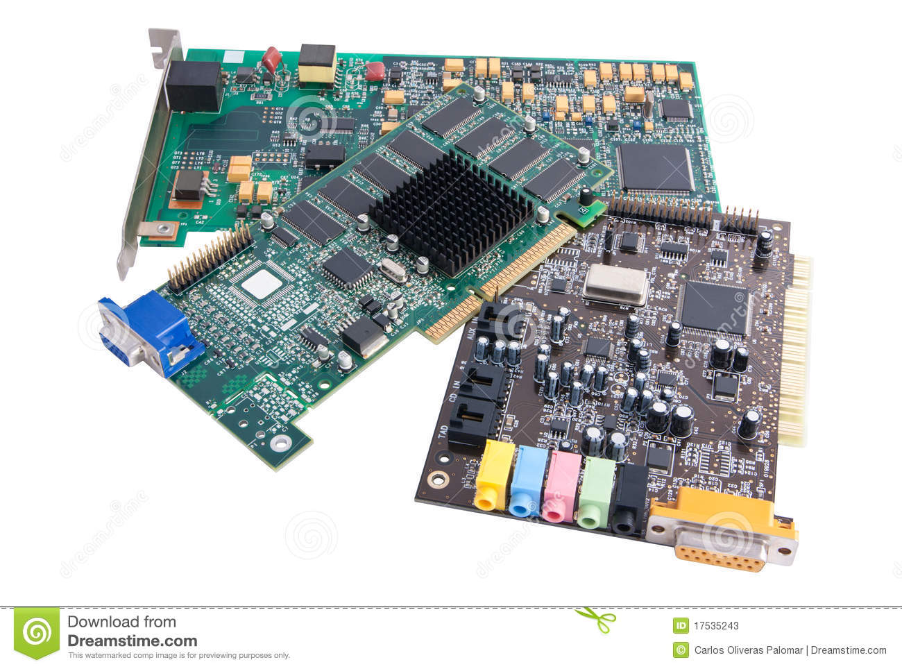 Computer Hardware Components Stock Image
