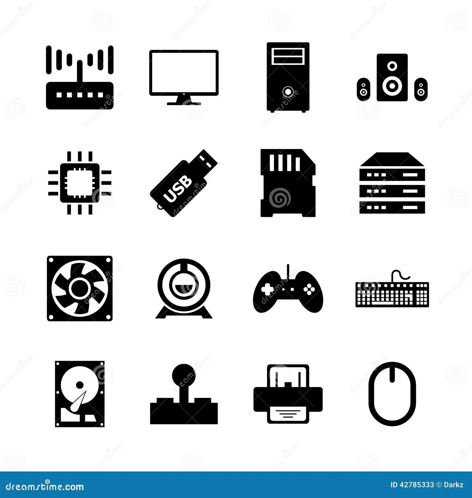 Computer Hardware Icon Stock Illustration