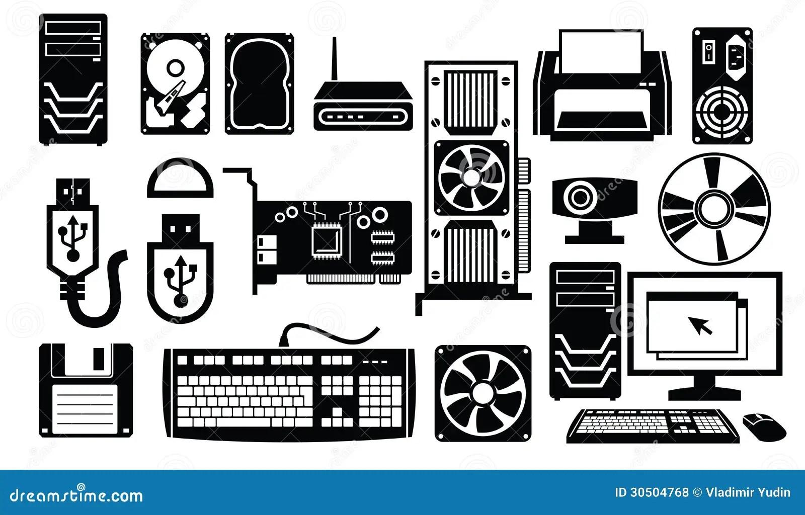 Computer Hardware Icon Stock Vector Illustration Of Rom