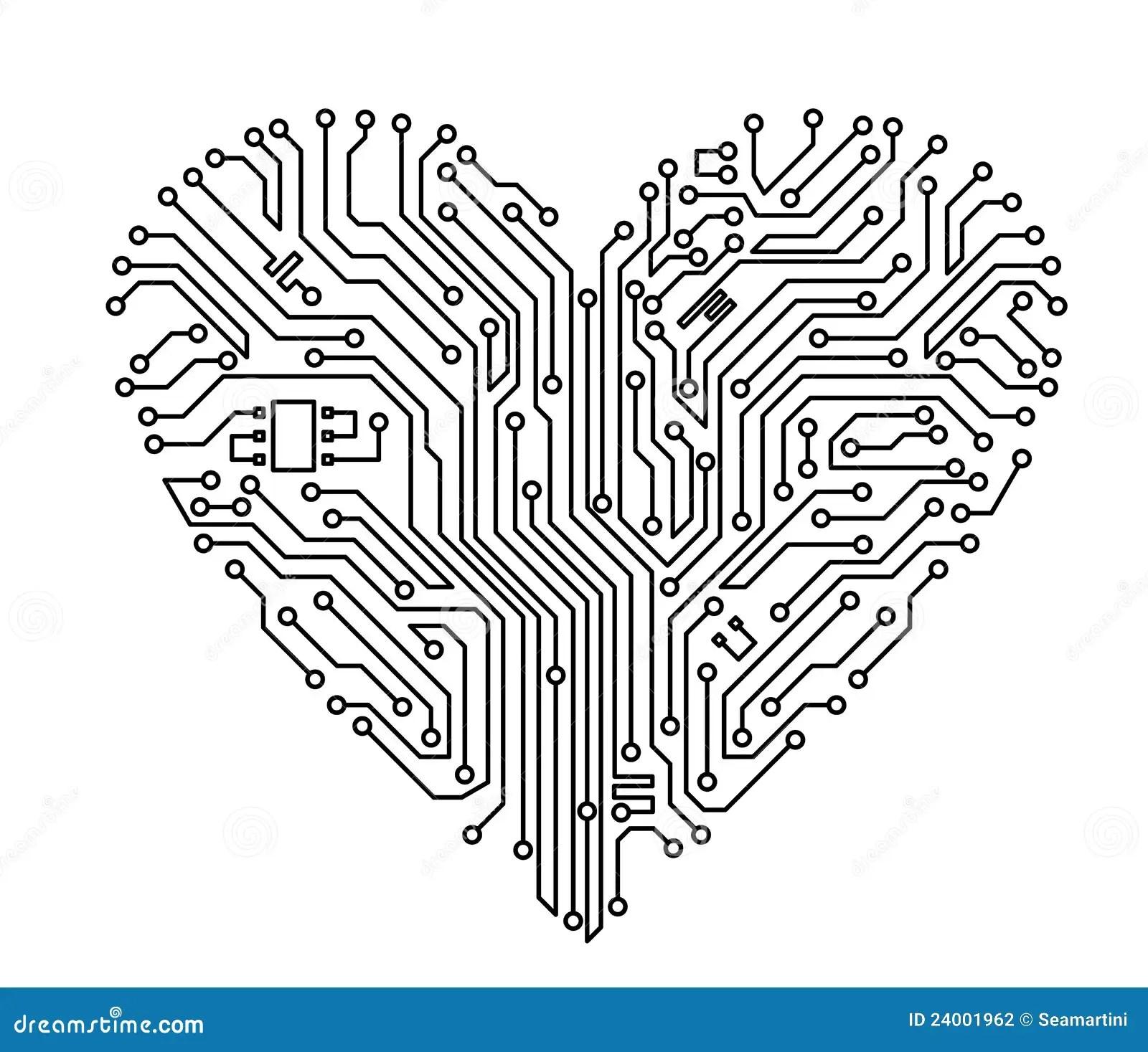 Computer Heart Stock Photography