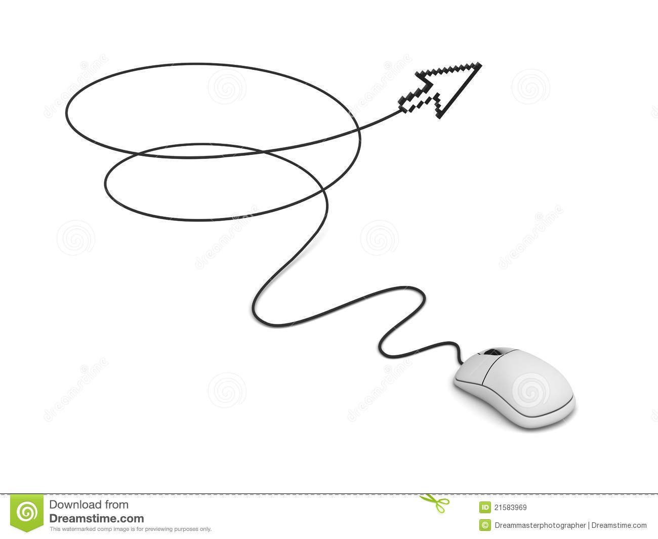 Computer Mouse And Arrow Cursor Royalty Free Stock Images