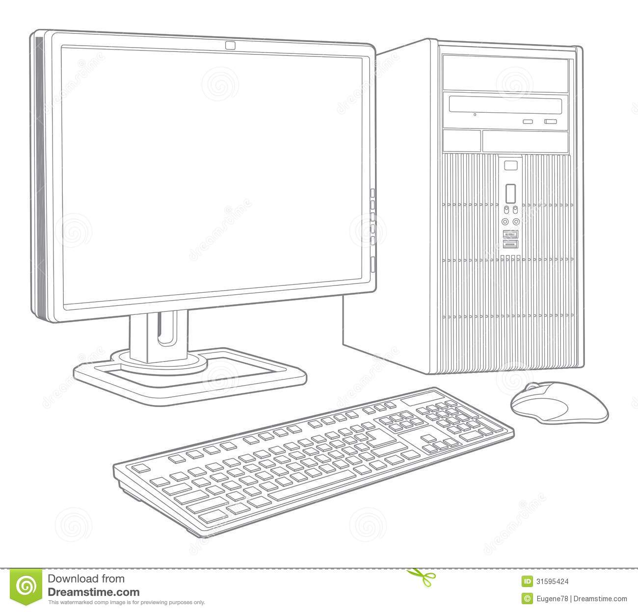 Computer System Stock Vector Illustration Of Vector