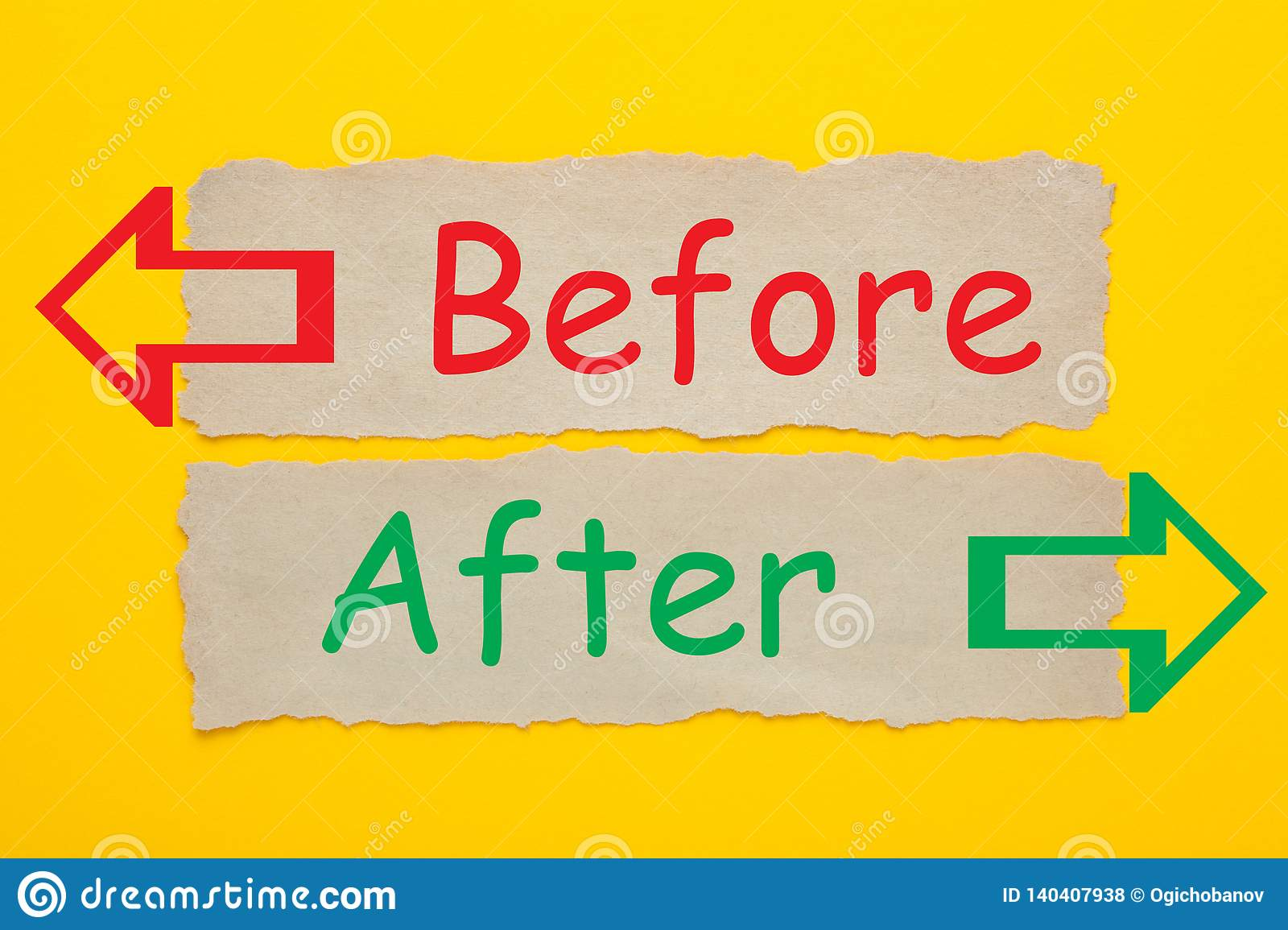 Before After Concept Stock Photo Image Of Communication