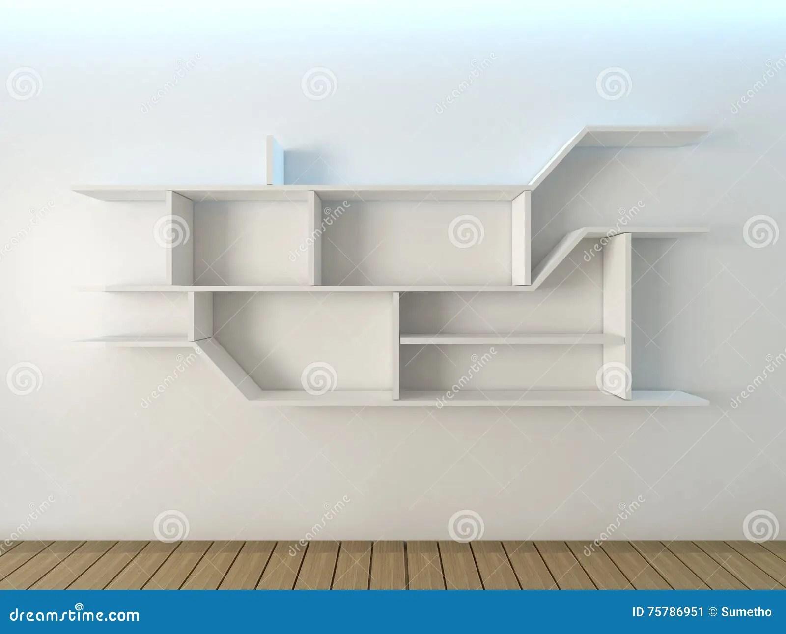 conception de mur d etageres illustration stock illustration du etageres conception 75786951