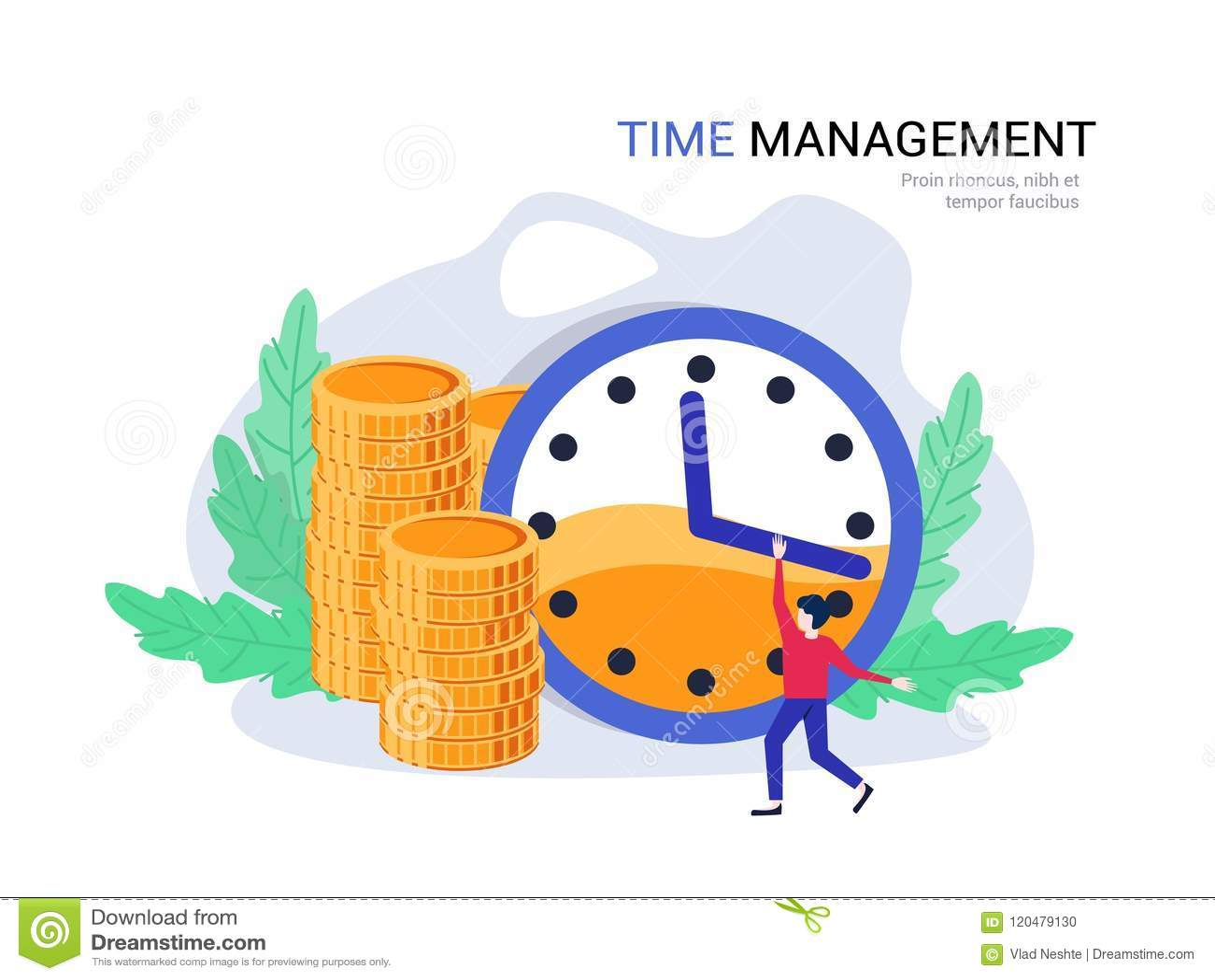 Concepto De La Gestion De Tiempo El Plan Empresarial Encargado Del Tiempo Planea Las Finanzas