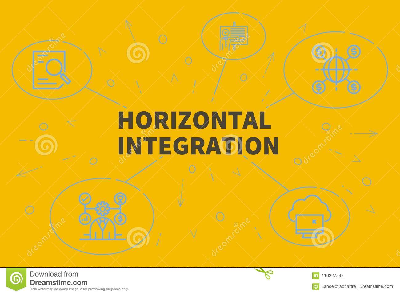 Conceptual Business Illustration With The Words Horizontal