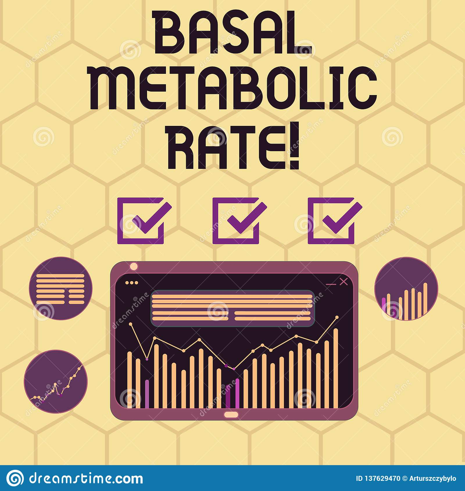 Conceptual Hand Writing Showing Basal Metabolic Rate