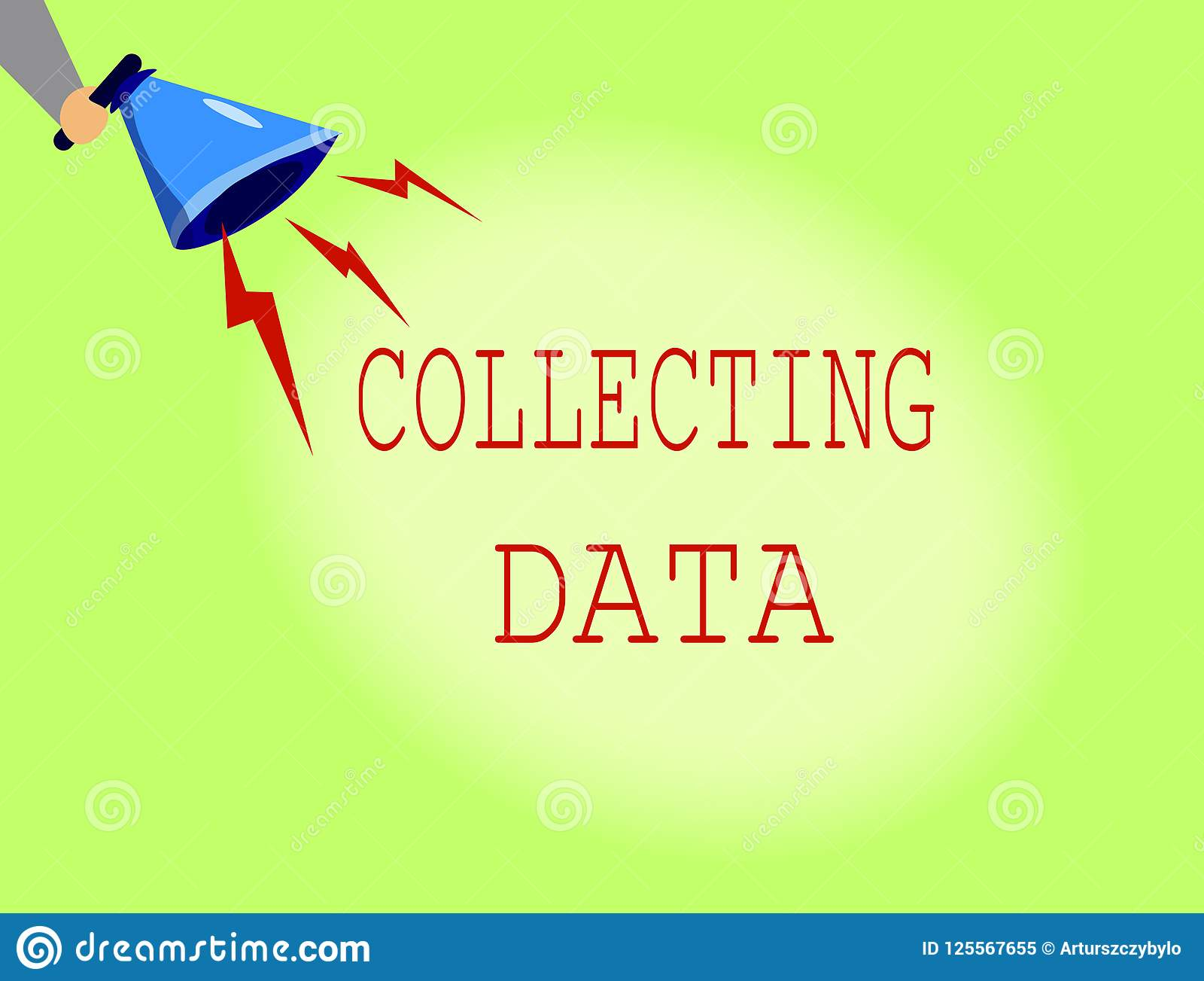 Conceptual Hand Writing Showing Collecting Data Business