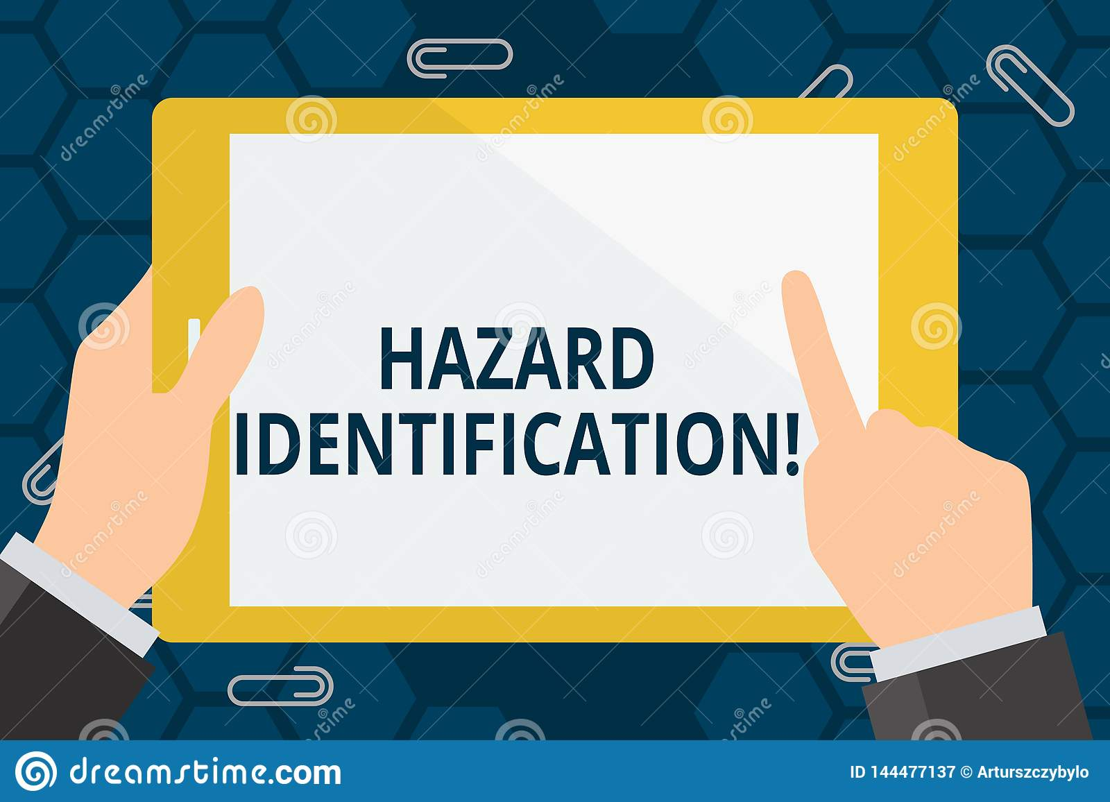 Conceptual Hand Writing Showing Hazard Identification