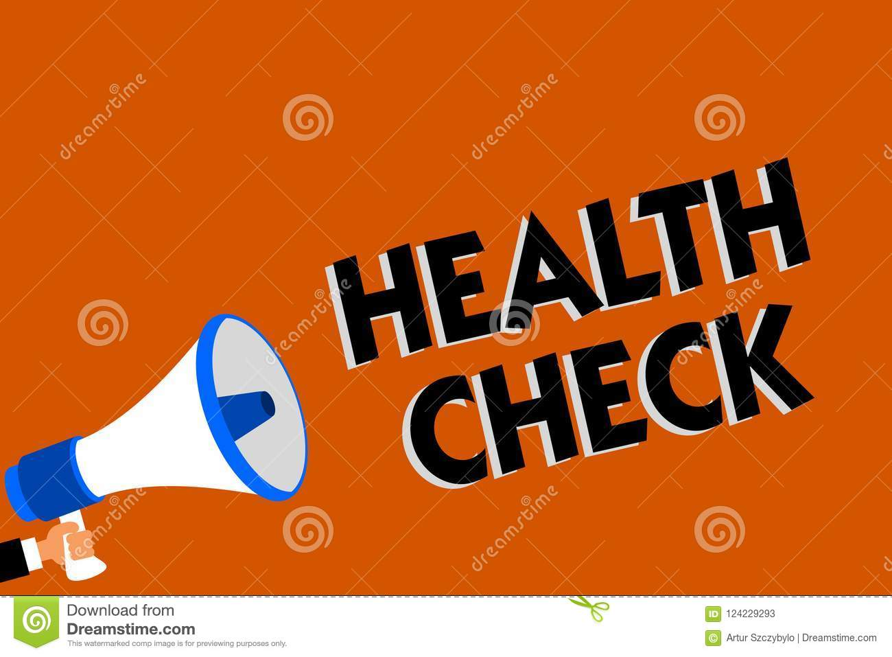Conceptual Hand Writing Showing Health Check Business