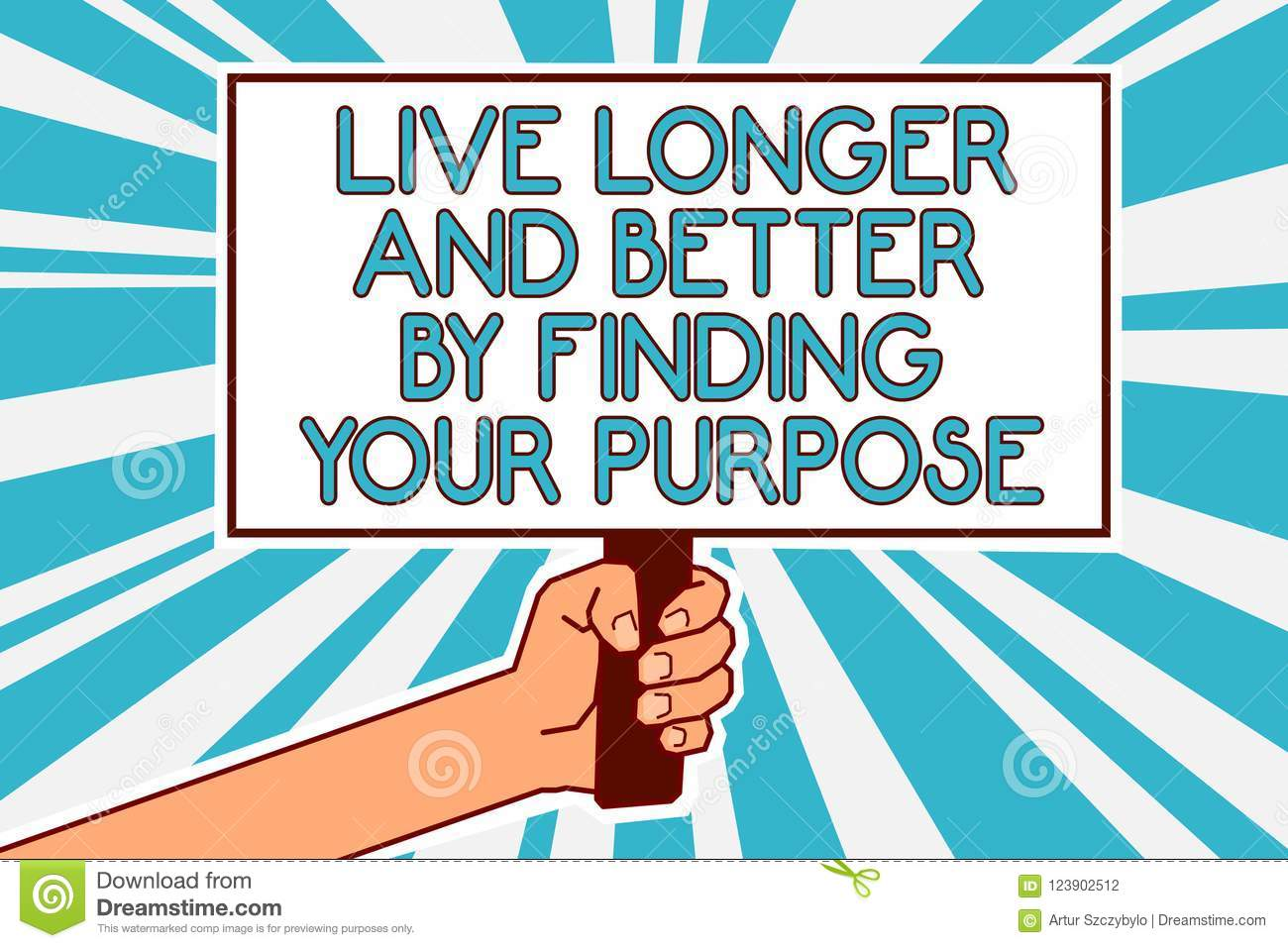 Conceptual Hand Writing Showing Live Longer And Better By